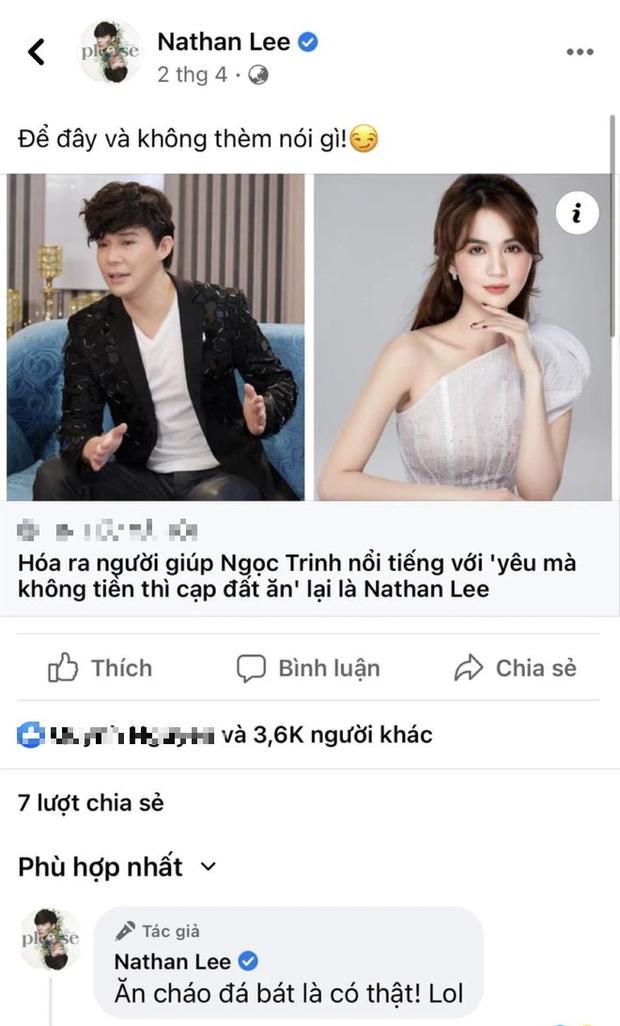 Nathan Lee tiếp tục ẩn ý gọi Ngọc Trinh ăn cháo đá bát, netizen phẫn nộ vì hành động đổ thêm dầu vào lửa đi ngược với lời nói - Ảnh 2.