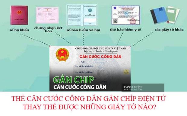 Sắp tới, thẻ căn cước công dân gắn chip có thể thay thế những giấy tờ nào? - Ảnh 1.
