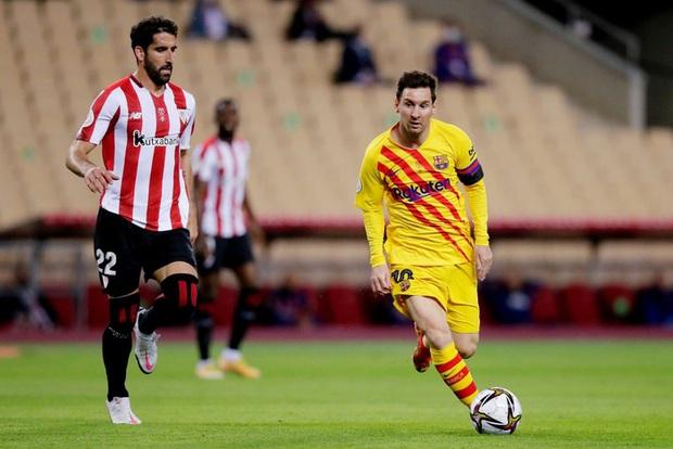 Messi lập cú đúp, Barca vùi dập Bilbao để vô địch Cúp Nhà vua Tây Ban Nha - Ảnh 1.