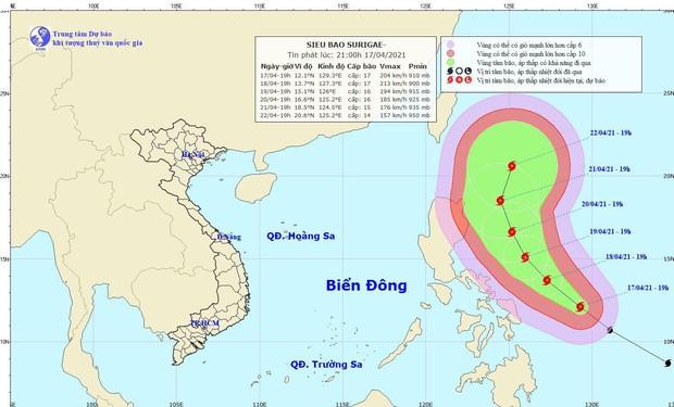 Yêu cầu các tỉnh sẵn sàng ứng phó siêu bão gần Biển Đông - Ảnh 1.
