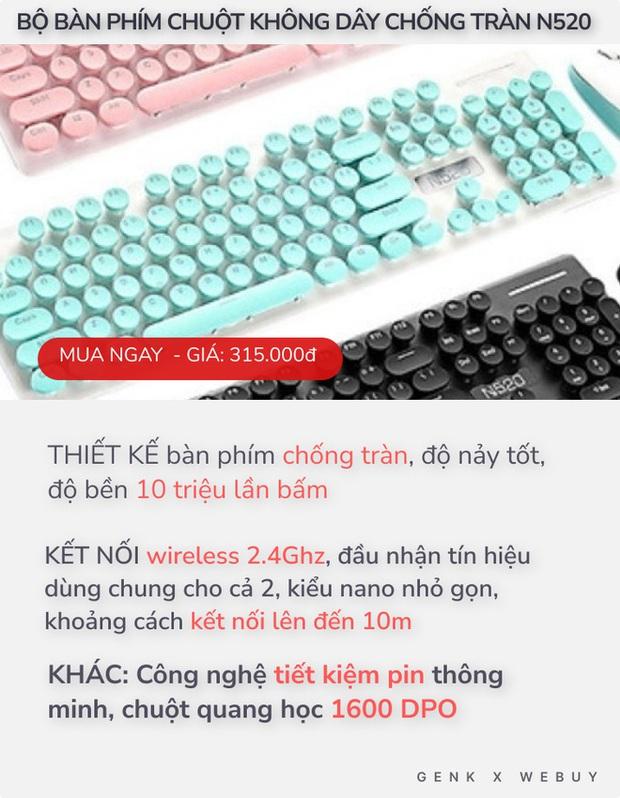 """4 bàn phím chống tràn dành cho """"team hậu đậu"""": Giá chỉ từ 110K, nhiều loại kết nối không dây cực tiện - Ảnh 1."""