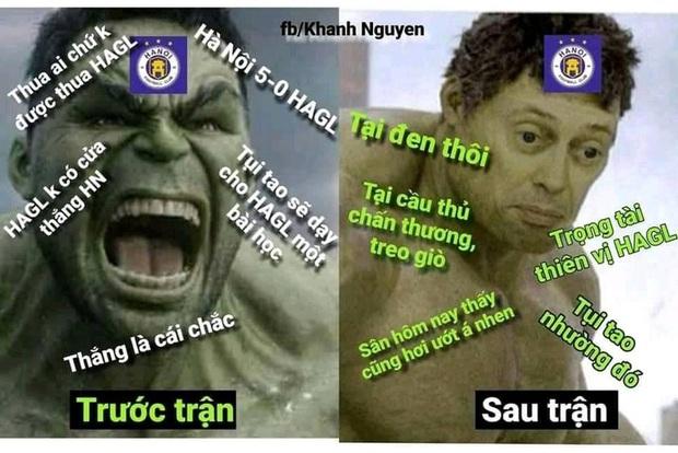 Fan HAGL chế loạt ảnh cà khịa Hà Nội FC sau trận đấu trên sân Pleiku - Ảnh 2.