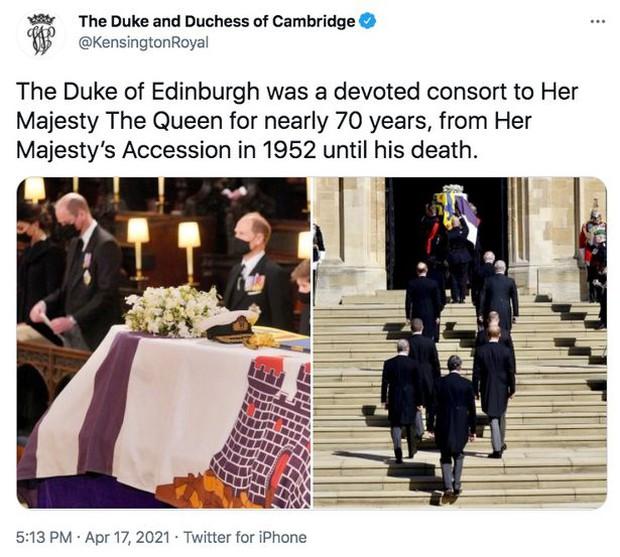 Động thái đầu tiên của Nữ hoàng Anh sau tang lễ Hoàng tế Philip khiến ai cũng đau nhói, nhà Công nương Kate có chia sẻ đầy tinh tế - Ảnh 3.