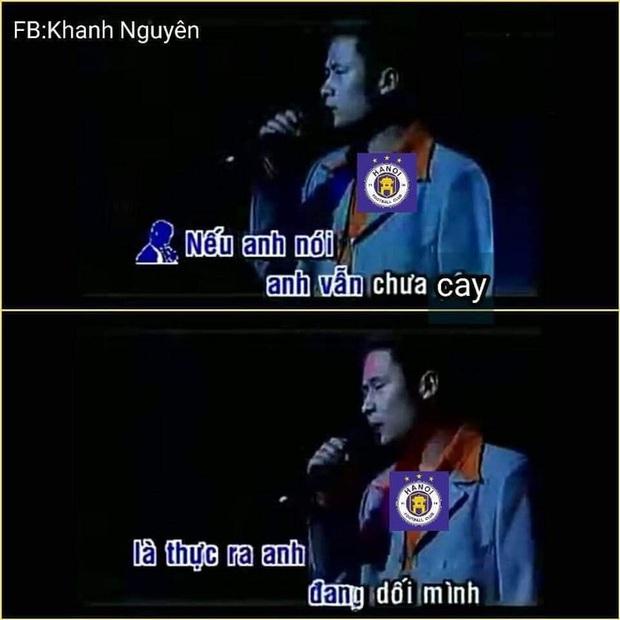 Fan HAGL chế loạt ảnh cà khịa Hà Nội FC sau trận đấu trên sân Pleiku - Ảnh 3.