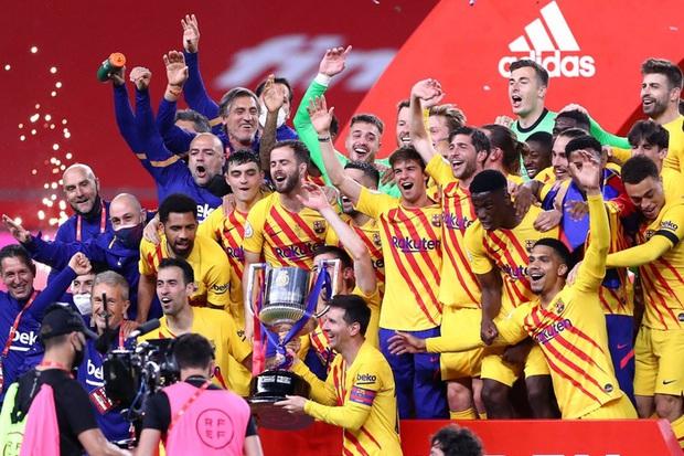 Messi lập cú đúp, Barca vùi dập Bilbao để vô địch Cúp Nhà vua Tây Ban Nha - Ảnh 9.