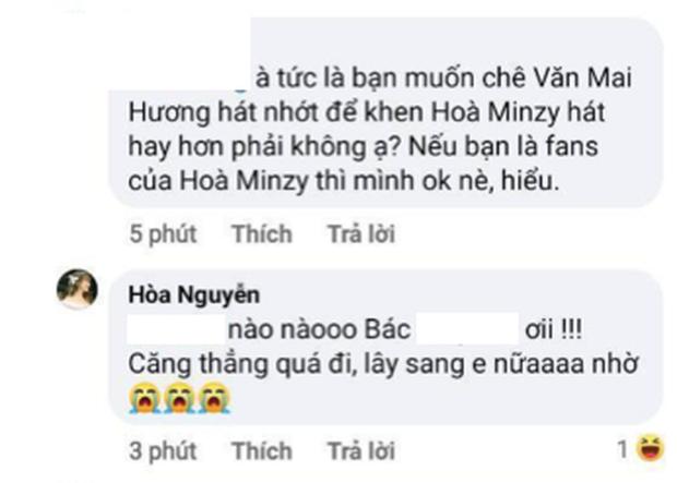 Netizen tranh cãi Văn Mai Hương hát quá nhớt và không hay bằng Hòa Minzy, khổ chủ phải lên tiếng giảng hòa - Ảnh 4.