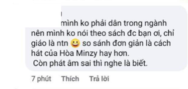 Netizen tranh cãi Văn Mai Hương hát quá nhớt và không hay bằng Hòa Minzy, khổ chủ phải lên tiếng giảng hòa - Ảnh 3.