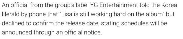 Cuối cùng YG cũng lên tiếng về chuyện Lisa (BLACKPINK) ra mắt solo, fan nghe xong tự biết nên làm gì luôn! - Ảnh 2.