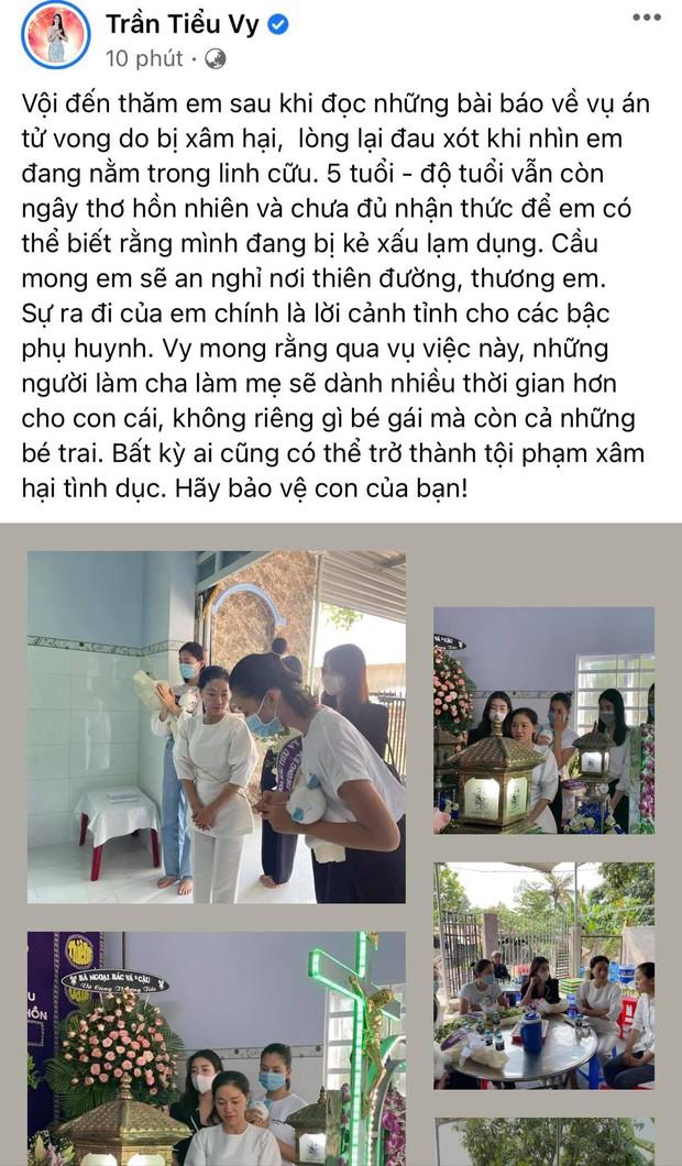Đỗ Mỹ Linh, Tiểu Vy xót xa đến viếng bé gái 5 tuổi bị sát hại, hiếp dâm, Phương Anh tức giận gửi lời đến kẻ xấu - Ảnh 6.