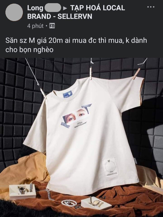 Áo local brand in hình 16 Typh mua 420k - rao bán trên mạng tới 20 triệu, chủ shop phản ứng thế nào? - Ảnh 2.