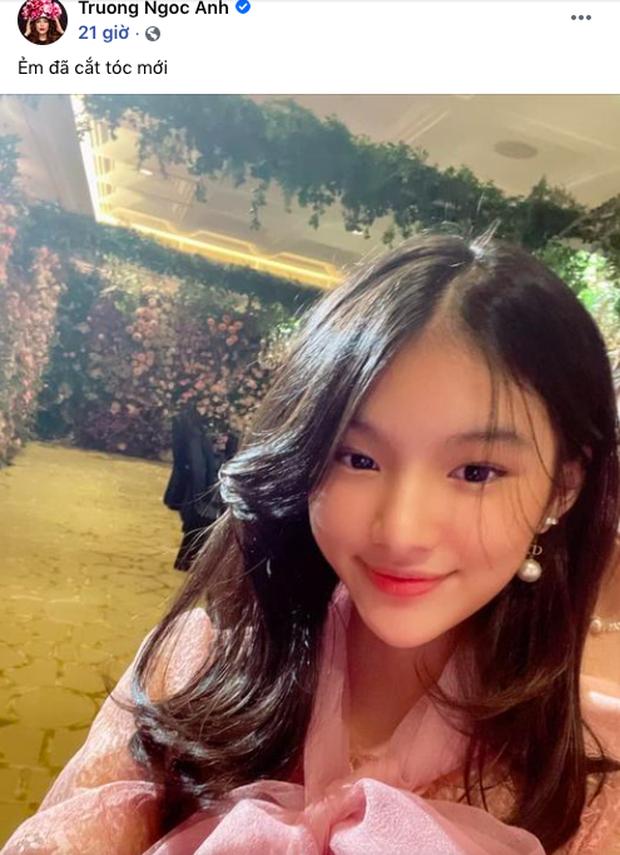 Trương Ngọc Ánh khoe ảnh selfie của con gái, đổi tóc xíu thôi mà dàn sao Vbiz khen nức nở - Ảnh 2.