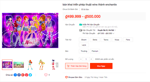 Trào lưu Winx En chan tít lấn sân sang cả Shopee, được bán với mức giá khó tin! - Ảnh 7.