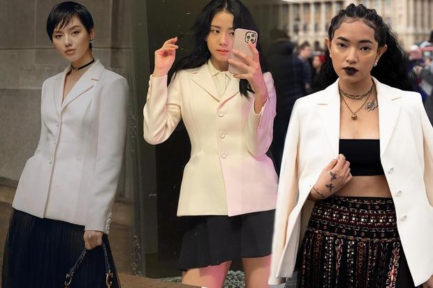 """Jisoo đụng áo Dior với 2 mỹ nhân Việt: Khánh Linh kiêu sa, Châu Bùi quằn quại"""" hơn nhưng liệu có lép vế? - Ảnh 6."""