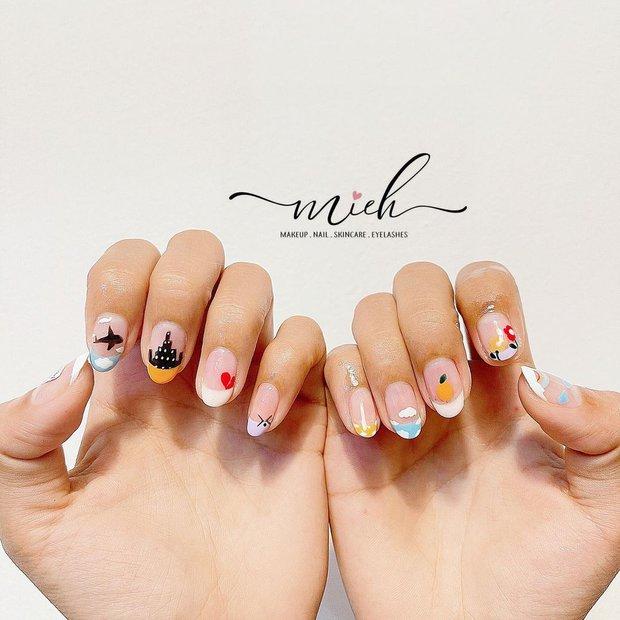 """Top mẫu nail xinh nhất ở các tiệm cho chị em đón hè: Muốn có móng xinh thì """"bơi"""" vào nghía - Ảnh 7."""