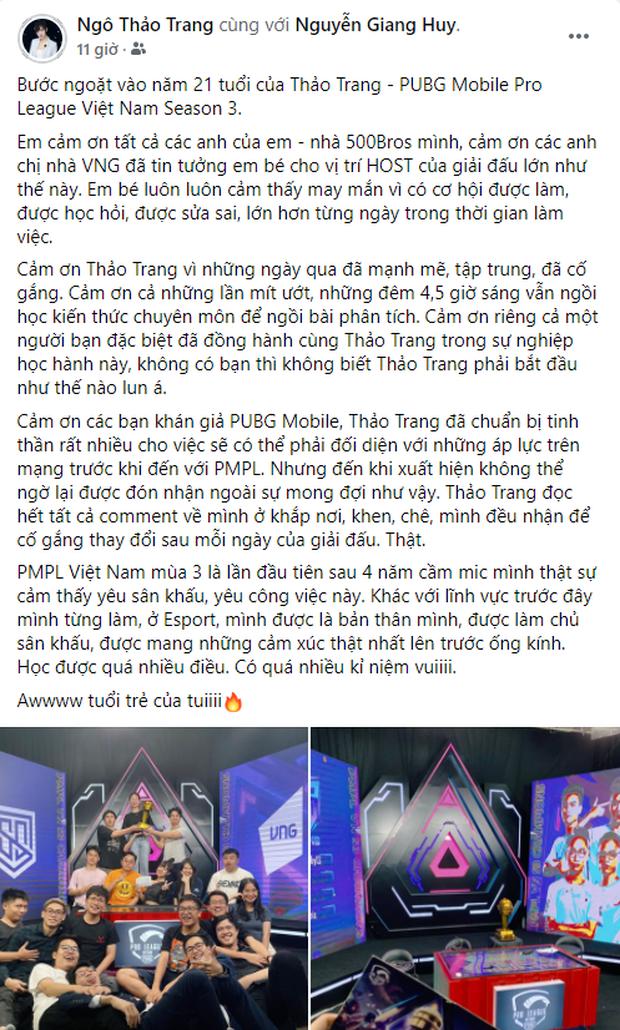 Không lung linh như trên sóng live, nữ MC xinh đẹp tại PMPL S3 hé lộ: Thức khuya, rơi nước mắt vì nhiều áp lực! - Ảnh 2.