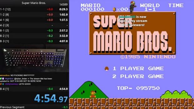 Game thủ phá đảo Super Mario Bros nhanh nhất với thời gian chưa đầy 4 phút 55 giây - Ảnh 1.