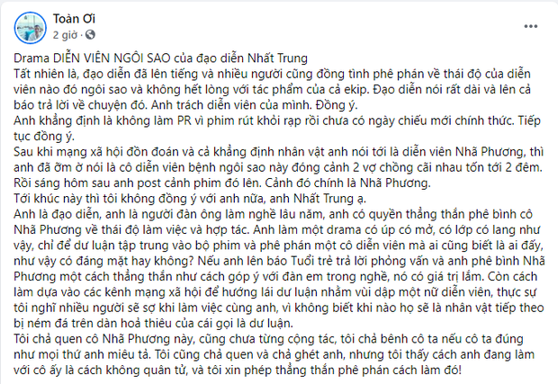 Đạo diễn Nhất Trung bị chỉ trích không quân tử với Nhã Phương, cố tình tạo drama để PR phim - Ảnh 3.