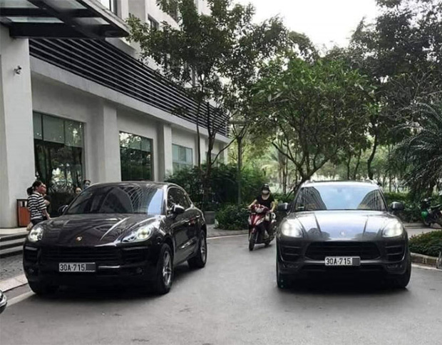 Hà Nội: Công an truy tìm tài xế xe Porsche Macan gắn biển số giả sau vụ 2 xe sinh đôi chạm mặt nhau - Ảnh 1.