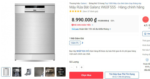 Máy rửa bát đang có giá siêu tốt: Từ 4,5 triệu là tậu được trợ thủ đắc lực giảm tải việc nhà - Ảnh 7.