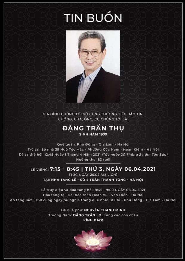 Nam diễn viên Đặng Trần Thụ (Chủ Tịch Tỉnh) qua đời, hưởng thọ 82 tuổi - Ảnh 2.