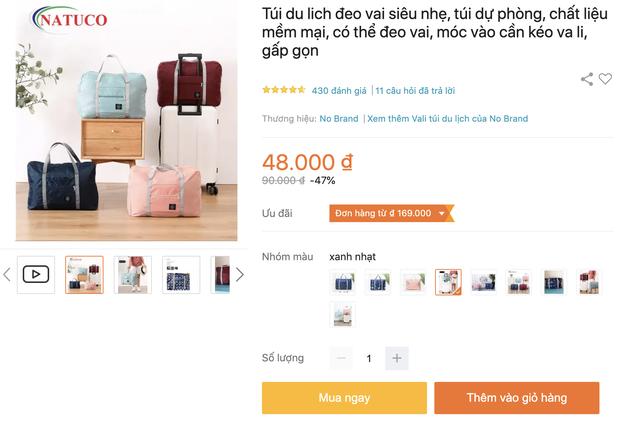 Túi du lịch tiện lợi giá rẻ: Chỉ từ 48k tậu được một chiếc xinh xắn - Ảnh 1.