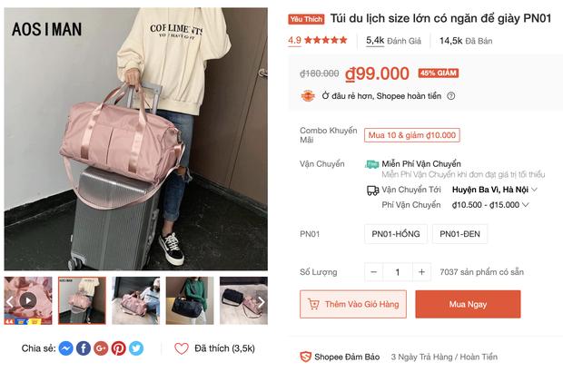 Túi du lịch tiện lợi giá rẻ: Chỉ từ 48k tậu được một chiếc xinh xắn - Ảnh 5.