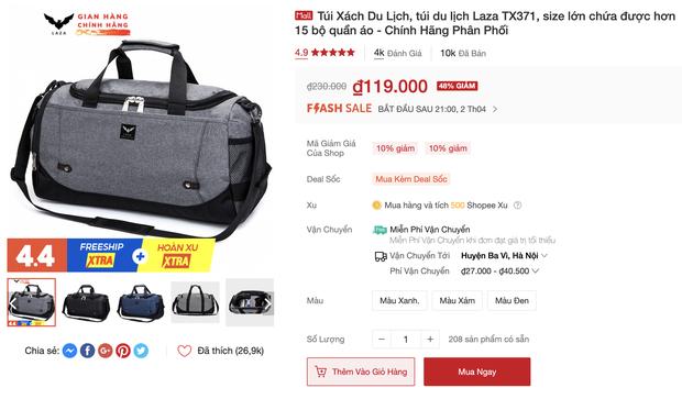 Túi du lịch tiện lợi giá rẻ: Chỉ từ 48k tậu được một chiếc xinh xắn - Ảnh 7.