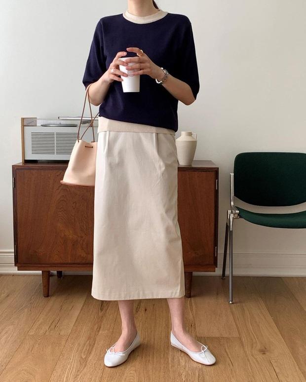 12 cách diện chân váy trắng siêu thanh lịch để các nàng tỏa sáng từ công sở ra phố - Ảnh 12.