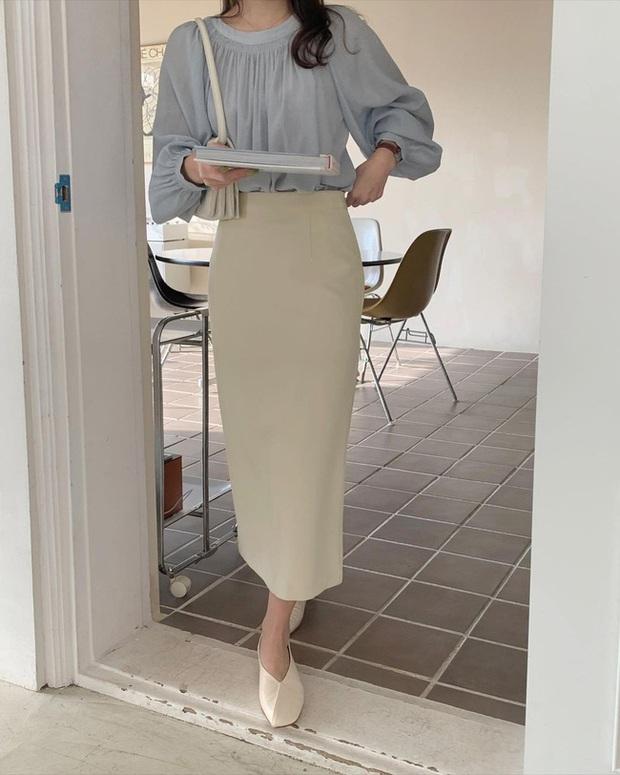 12 cách diện chân váy trắng siêu thanh lịch để các nàng tỏa sáng từ công sở ra phố - Ảnh 3.