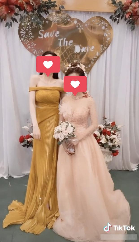 Đi dự đám cưới, cô gái bị ném đá vì ăn mặc quá lộng lẫy, tạo dáng kém duyên lấn át hết cô dâu - Ảnh 1.