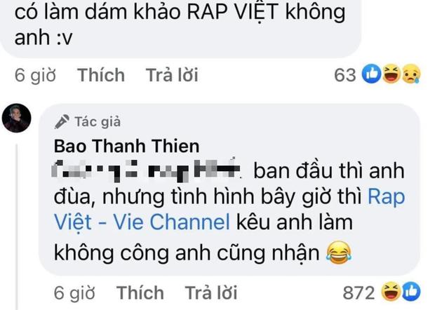 B Ray lên tiếng về tin đồn ngồi ghế giám khảo Rap Việt: Ban đầu thì đùa nhưng giờ kêu làm không công cũng nhận? - Ảnh 2.