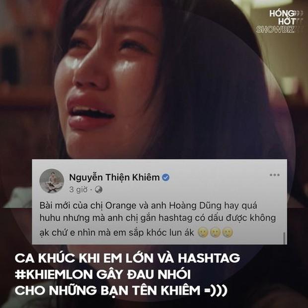 Orange - Hoàng Dũng tung MV Khi Em Lớn nhưng không lường được sự phong phú của tiếng Việt lại cho ra hashtag nhạy cảm cỡ này - Ảnh 7.
