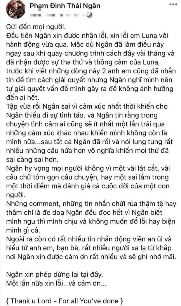 Phạm Đình Thái Ngân sau drama nụ hôn có hương vị tình bạn: Mình ngu thì chịu, không đổ lỗi hay biện minh gì cả - Ảnh 3.