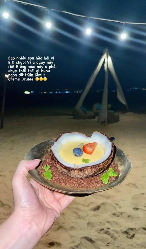 Tiệc sinh nhật trên bãi biển nhà Bảo Thy sang chảnh cỡ nào: Ngập hải sản đắt tiền, khung cảnh chill hết nấc - Ảnh 10.