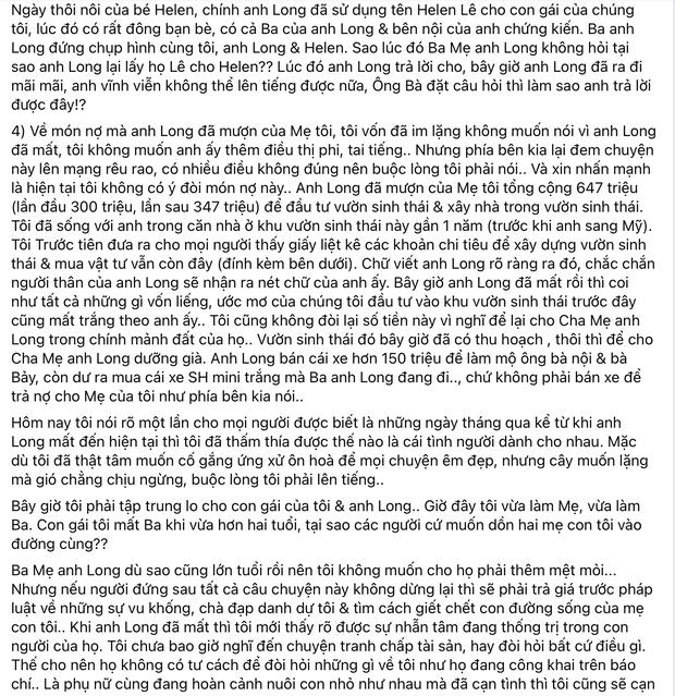 Linh Lan đáp trả bố mẹ Vân Quang Long: Làm rõ nghi án dùng tên giả và hé lộ số tiền 647 triệu cố NS nợ mẹ ruột của cô - Ảnh 3.
