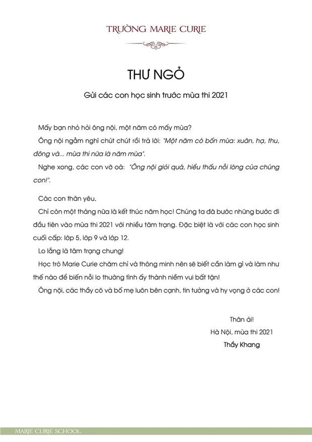 Hiệu trưởng gửi thư trước mùa thi, ông bố gây bão khi kể tiếp chuyện toilet và bảng điểm 0-1 của học sinh Hà Nội - Ảnh 2.