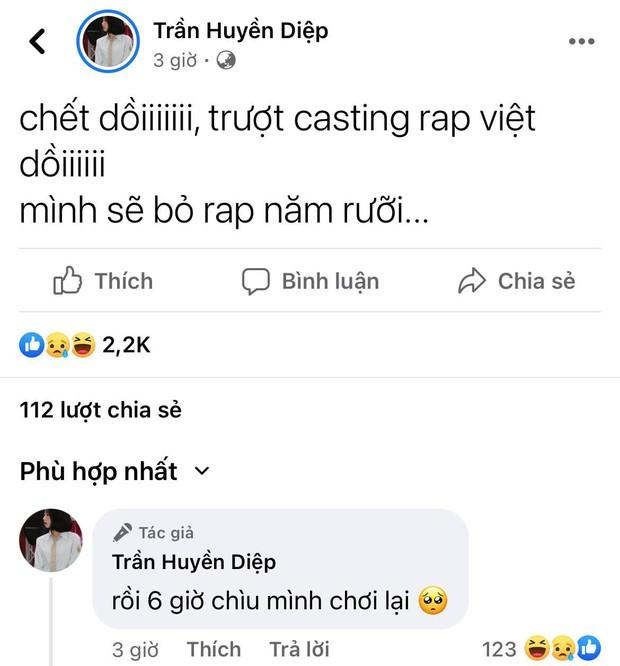 Hiện tượng Gái Việt Đi Vào Bar tuyên bố bỏ rap năm rưỡi vì rớt casting Rap Việt nhưng nhanh chóng quay xe - Ảnh 2.