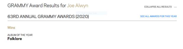 Taylor Swift đúng là chuyên gia lượm Grammy, đến anh nhà Joe Alwyn cũng thơm lây có ngay 1 chiếc rồi! - Ảnh 3.