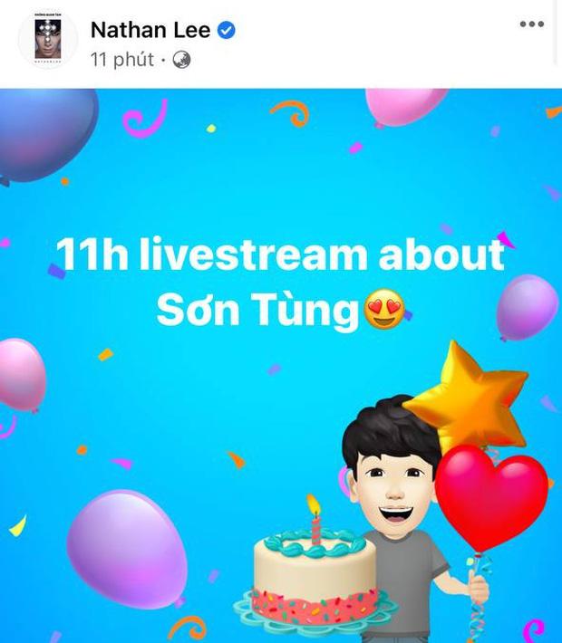 Nathan Lee hẹn 11h livestream về Sơn Tùng nhưng Sơn Tùng đã lên giường đi ngủ từ 10h - Ảnh 1.