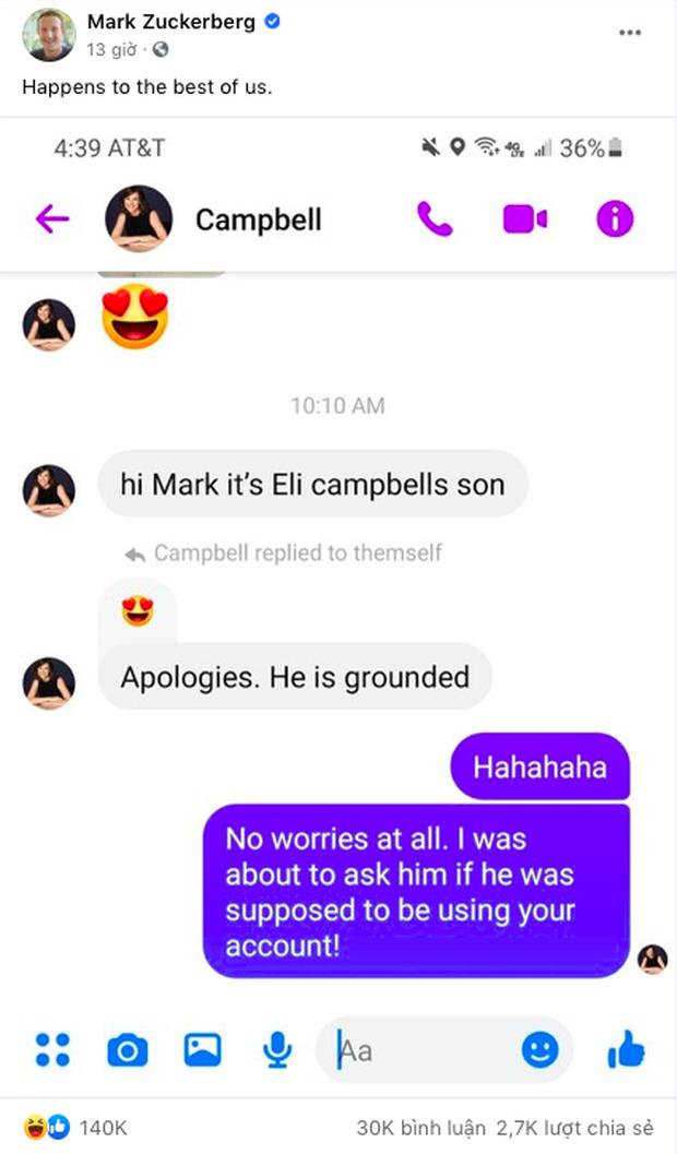 CEO Facebook đăng ảnh cực hài hước, nhưng dân tình không quan tâm mà chỉ lăm le soi điện thoại mà Mark sử dụng, nó không phải iPhone! - Ảnh 1.