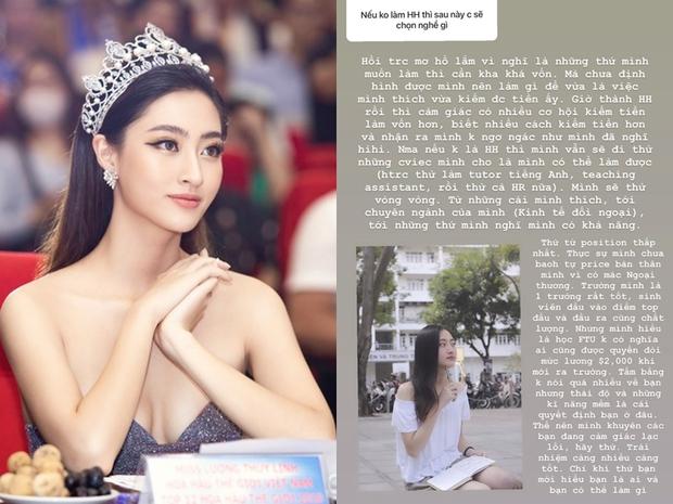 Hoa hậu Lương Thùy Linh: Học Ngoại thương không có nghĩa ai cũng được quyền đòi mức lương 2.000 USD khi mới ra trường - Ảnh 1.