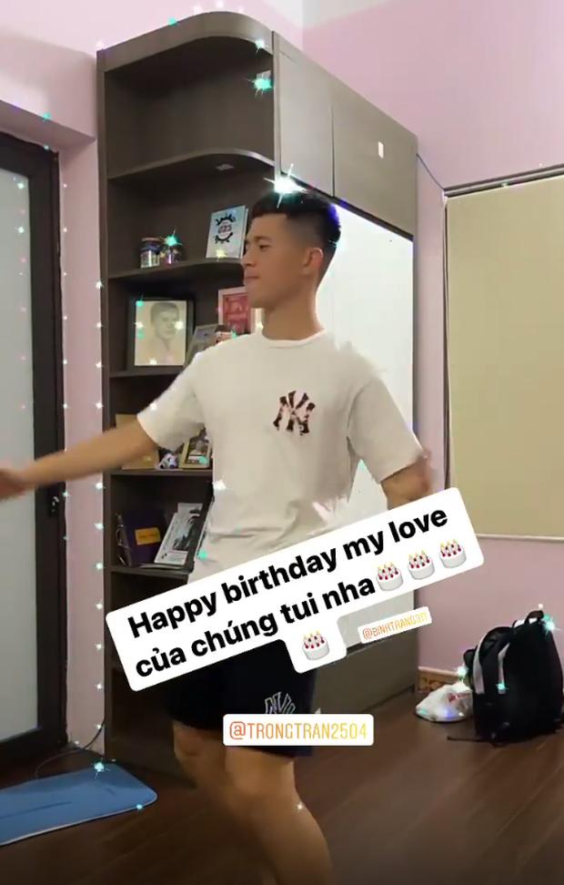 Bạn gái đăng video cơ trưởng Đình Trọng quẩy cực hài trong ngày sinh nhật - Ảnh 2.