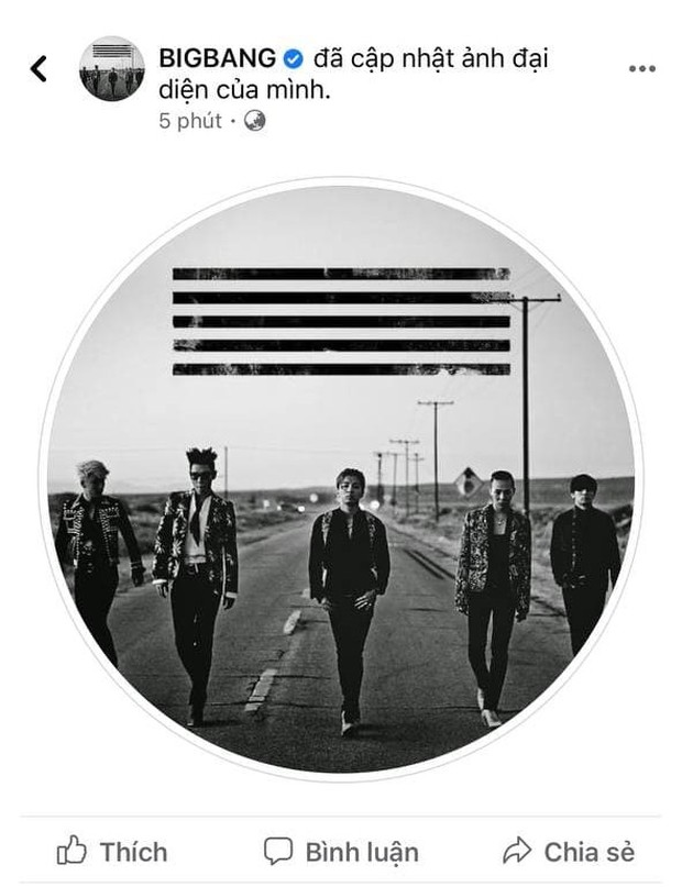 BIGBANG đổi ảnh đủ 5 người, GD thay avatar mới làm fan 99% tin hè này comeback làm Kpop nổ tung! - Ảnh 1.