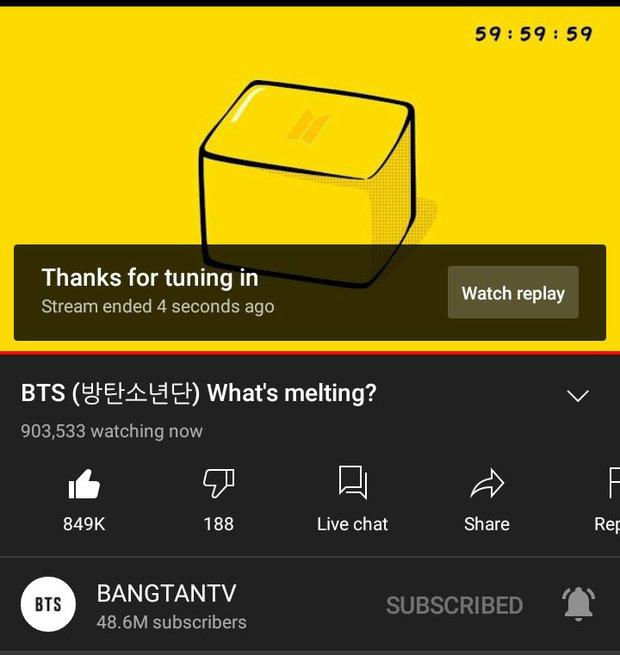 Chuyện gì đây: Hơn 900 nghìn người ngồi nhìn cục bơ tan chảy suốt 1 tiếng để xem BTS làm gì thế? - Ảnh 2.
