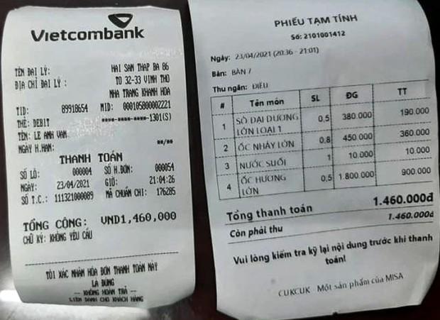 Nhà hàng bị tố tính giá ốc hương 1,8 triệu đồng/kg: Nha Trang không nhà hàng nào có ốc hương lớn như chúng tôi! - Ảnh 3.