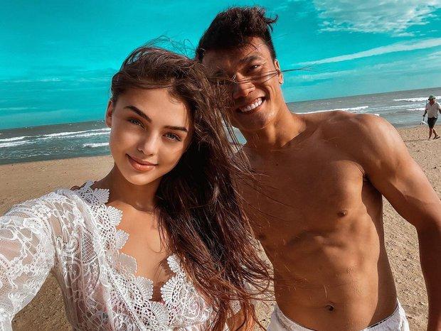 Là chân dài đầu tiên được Ngọc Trinh lựa chọn, Instagram bạn gái ngoại quốc của Bùi Tiến Dũng tăng vọt lượt theo dõi! - Ảnh 1.