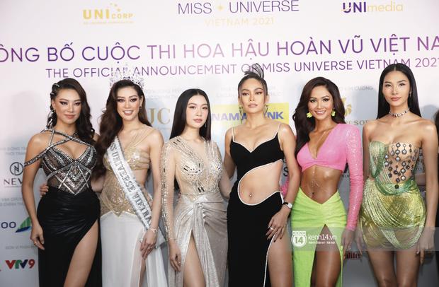 Quân đoàn Hoa hậu, Á hậu đổ bộ họp báo HHHV: HHen Niê body hot đến mức át cả Khánh Vân, dàn mỹ nhân thi nhau hở cháy mắt - Ảnh 10.