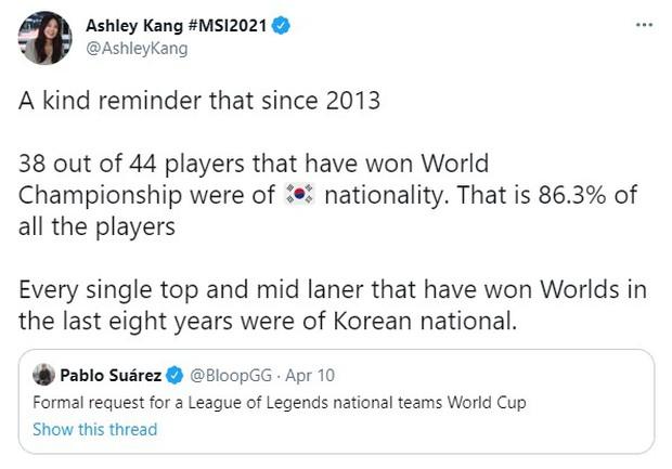 Báo chí thế giới đề xuất lập giải đấu quốc gia LMHT, mà quên mất 86,3% nhà vô địch CKTG từ năm 2013 là người Hàn Quốc - Ảnh 1.
