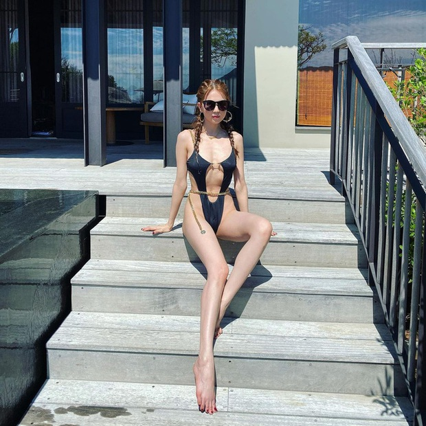 Diện đồ bơi hở bạo liệt: Ngọc Trinh nhìn lép vế hơn hẳn so với mỹ nhân cao 1m55 này - Ảnh 3.
