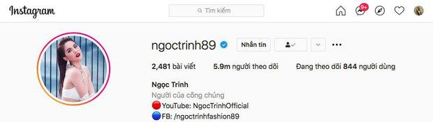 Instagram Ngọc Trinh có lượt theo dõi tăng chóng mặt, sắp vượt cả Sơn Tùng M-TP để đứng top 1 showbiz Việt? - Ảnh 2.